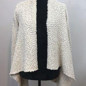 Bobeau textured cardigan sweater Size M
